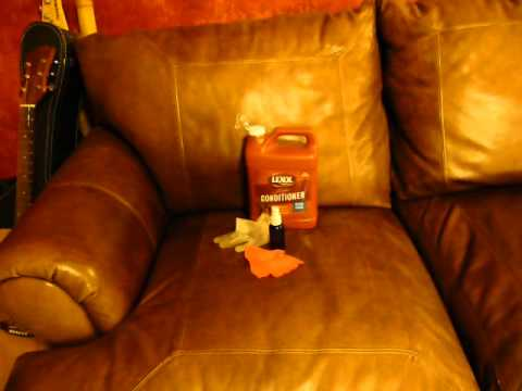 Conditioning Leather Sofa, Saddle, boots, Car Seats - Maintaining Color of