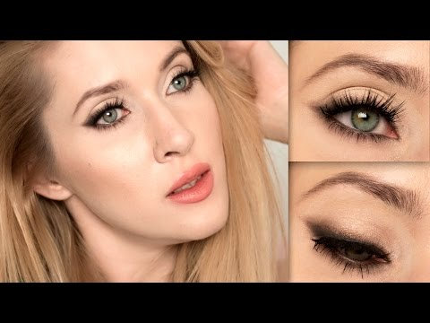 Party makeup tutorial ★ Soft cat eye look ★ Holiday glam for blue/grey/green eyes