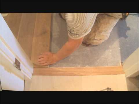 How To install Flat Hardwood Floor Transition to Tile: Make It Fit Mryoucandoityourself