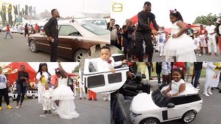 Rev Obofour & Wife Blow Cash At Their Children's Bday Party, Share TV Sets And Fridges to Kids