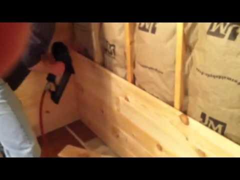 Installing pine walls 3