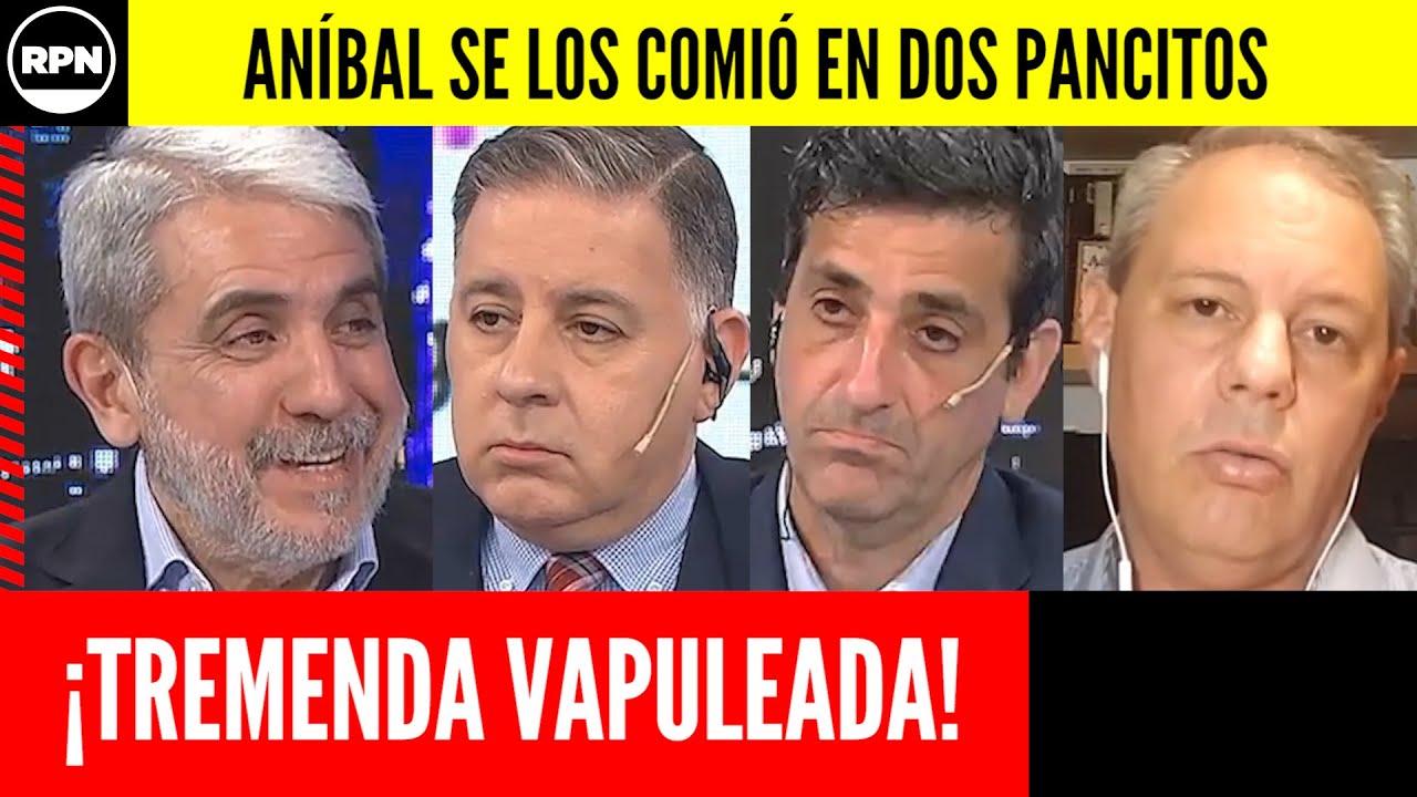 ¡¡Aníbal Fernández afiló su lengua y SE COMIÓ en DOS PANCITOS a los intratables!!