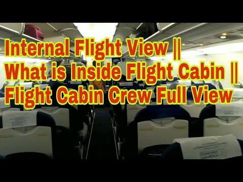 Internal Flight View || What is Inside Flight Cabin || Flight Cabin Crew Full View