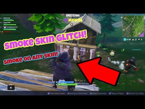 Fortnite Battle Royale Glitch (working) Smoke on any skin PS4/Xbox one 2018