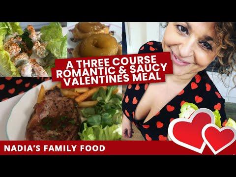 A THREE COURSE ROMANTIC & SAUCY VALENTINES MEAL (Prawn Cocktail, Steak & Chips, Apple Tarte Tatin)