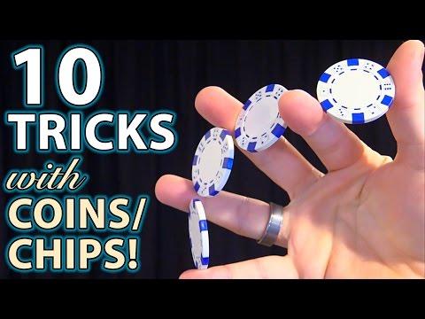 10 Best COIN & Poker Chip TRICKS! (How to Tutorials)