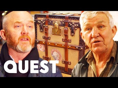 Carefully Restoring A Louis Vuitton Trunk From The 1900's | Salvage Hunters: The Restorers