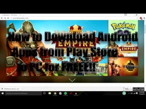 How to Install Android Apps from Play Store to PC/ Laptop for FREE 2017