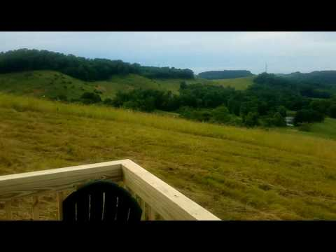 640 square foot Mountain Top Amish Built Cabin on 16 Acres for sale in Guernsey County Ohio.