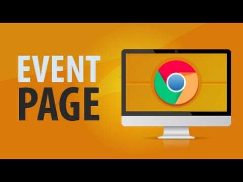 Event Pages in Google Chrome