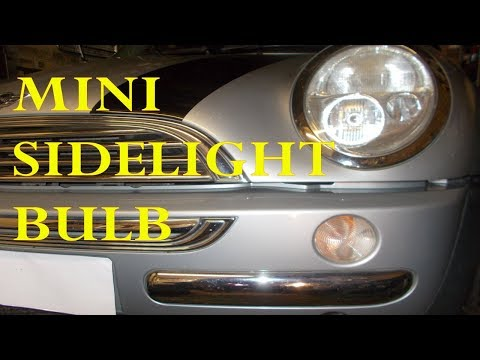 Mini front sidelight bulb change