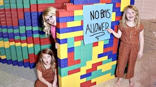 Download GIANT LEGO FORT! No Boys Allowed Video