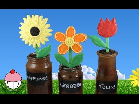 Nutella Flowerpot Jar Cupcakes for Mothers Day! By Cupcake Addiction