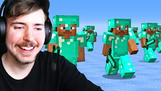 I Got Hunted By 100 Players in Minecraft!