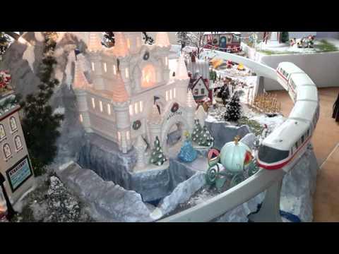 2015  Christmas  tree miniature village platform