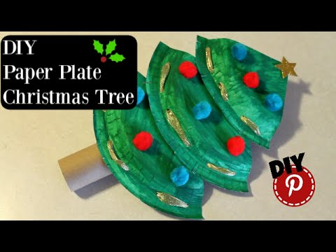 DIY Christmas - Paper Plate Christmas Tree - Simple and Easy Craft