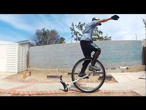 Crazy 36er Unicycle Stunts! Must See!