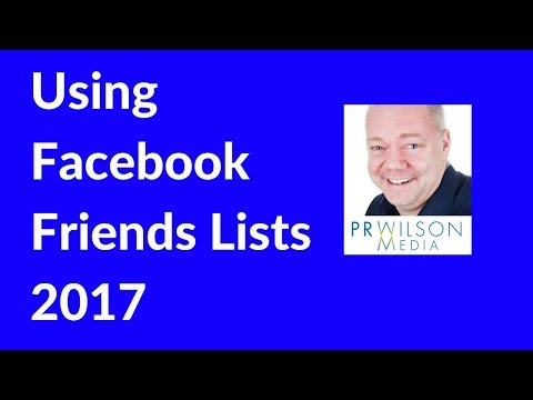 How to create a Facebook friends list 2017