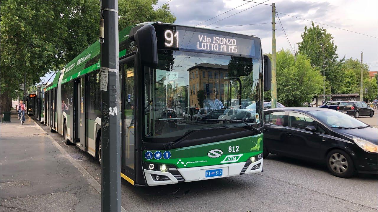 Viaggio a bordo dei nuovissimi Solaris Trollino sulla linea 90 e 91