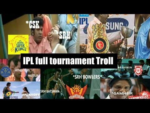 Ipl full tournament Troll video l CSK vs SRH troll video