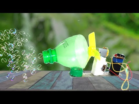 How to Make Bubble Machine at Home by Using DC motor/How To Make Giant Bubbles/Soap hack/Kazi Tv
