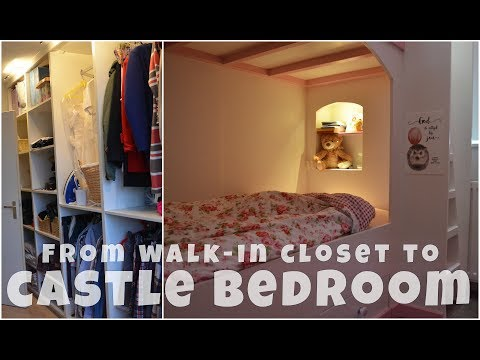 From walk-in closet to castle bed