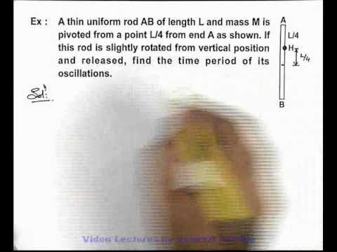17. Class 11th Physics | SHM | Compound Pendulum | by Ashish Arora (GA)