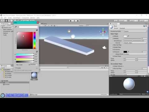 10. HOW TO ADD COLORS TO GAMEOBJECTS | BUILD VIRTUAL REALITY GAMES FOR GOOGLE CARDBOARD USING UNITY