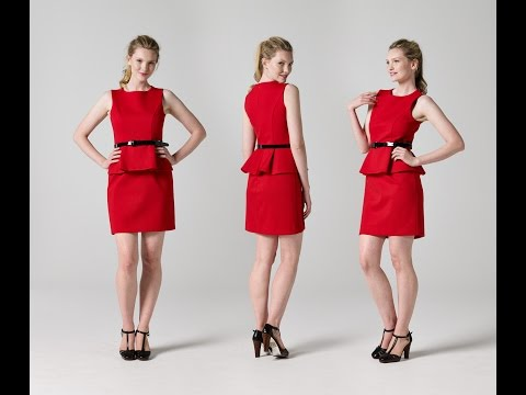 How to Make a Peplum Dress Part 2 | Teach Me Fashion