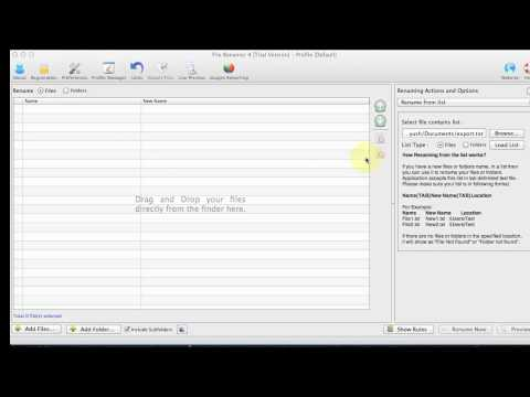 File Renamer for Mac - How to use list (excel, text, csv) of file names to rename files