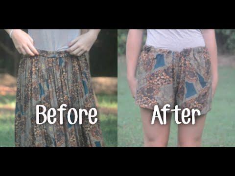 DIY: Skirt to Shorts!