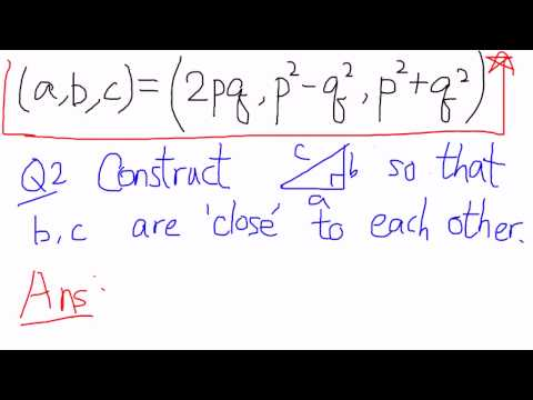 Geometry of Numbers: Lecture 1.2.3: Some examples of Pythagoras Triple
