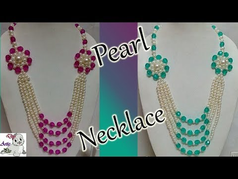 #76 How to Make Pearl Beaded Necklace || Diy || Jewellery Making