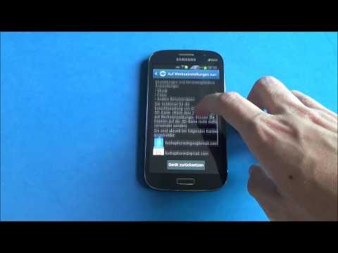 Samsung Galaxy Grand Duos - Screenshot & hard reset