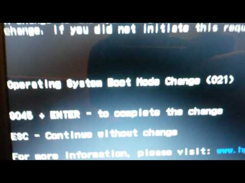 как активировать legacy boot order ~ how to activate the legacy boot order (HP notebook)