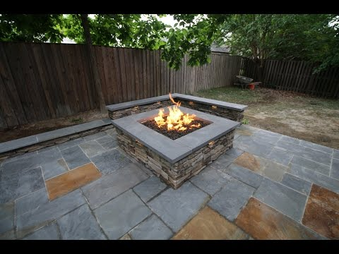 Flagstone Patio with Fire Pit in Alexandria, VA