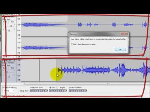Audacity: Export as MP3 (Multitrack Mixdown)