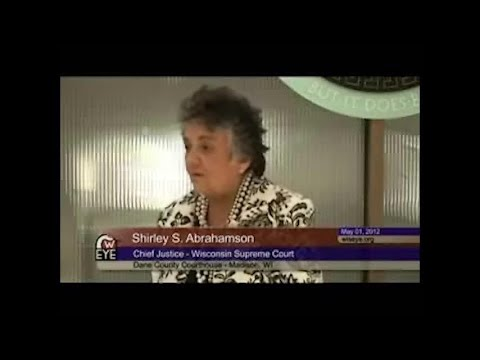 Justice Shirley Abrahamson talks about the judicial role in government