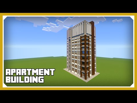 Minecraft: How To Build An Apartment Building Complex Tutorial (Easy Survival Minecraft House )