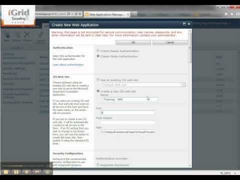 8- SharePoint 2010 - Creating a New Web Application