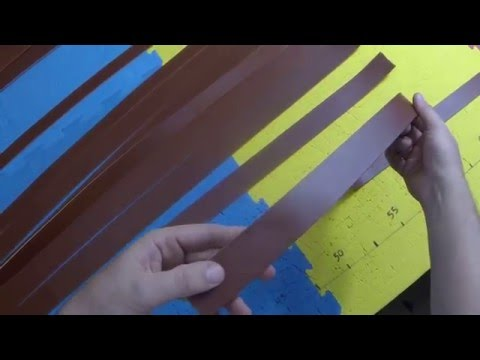 CUTTING BLANK STRAPS OF COGNAC BRIDLE LEATHER  FOR BELTS AND MORE