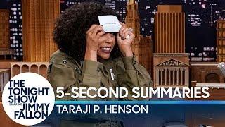 Download 5-Second Summaries with Taraji P. Henson Video