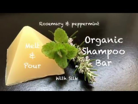 DIY Organic Shampoo Bar made with Melt and Pour soap base