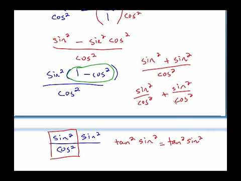 5.2 Verifying and simplifying trig identities