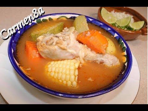 Caldo de Pollo con Verduras Estilo8a