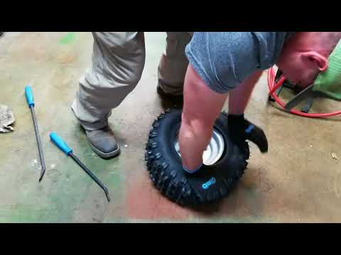 How To Mount A Mower Tire