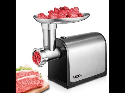 Review Aicok Electric Meat Grinder, Sausage Maker