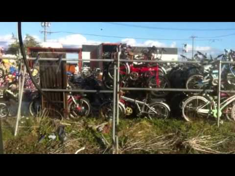 A container load of bikes leaving Japan for Dubai