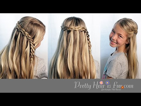 How To Do a Four Strand Waterfall Braid |Pretty Hair is Fun