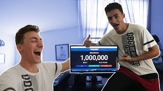 ONE MILLION SUBSCRIBERS!!! (MY REACTION)